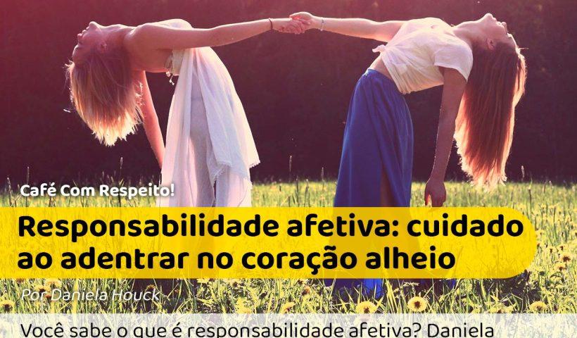 Responsabilidade Afetiva: Foto de duas mulheres segurando a mão uma da oura e jogando o corpo para trás, se uma soltar, a outra cai.