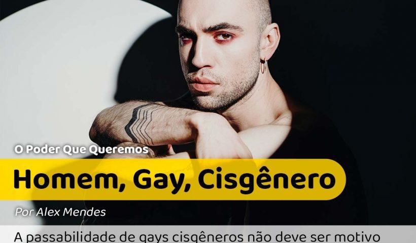 Na foto um homem gay e cisgênero com olhar de julgamento.