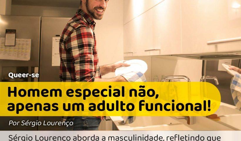 Homem funcional lavando louça