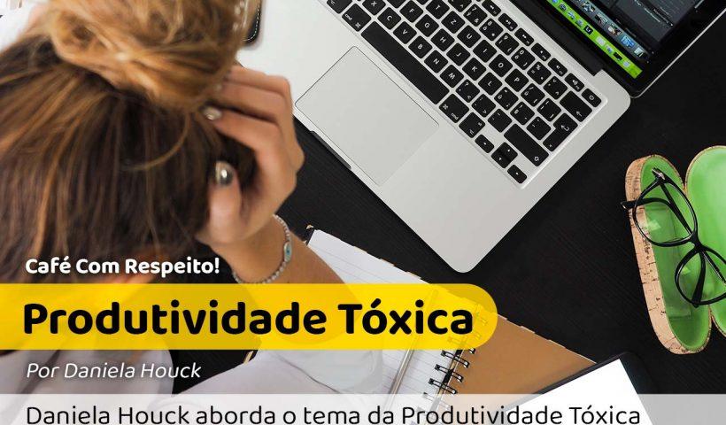 Foto de uma mulher estressada com o trabalho e a produtividade tóxica